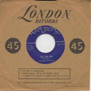 Blue Diamonds - Ramona/Liebe mich! (All Of Me) (German Pressing with picture sleeve, sung in German - VERY PLEASANT Vintage Rock & Roll Versions of the Classic Love Ballads!) - EX8/EX8 - 45 rpm Records