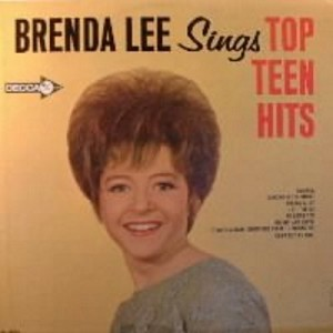 Lee, Brenda - Top Teen Hits: Dancing In The Street, She Loves You, Thanks A Lot, Let It Be Me, Is It True, Funny, Snap Your Fingers (Vinyl STEREO LP record) - EX8/NM9 - LP Records