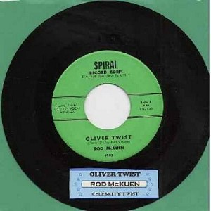McKuen, Rod - Oliver Twist/Celebrity Twist (with juke box label) - EX8/ - 45 rpm Records
