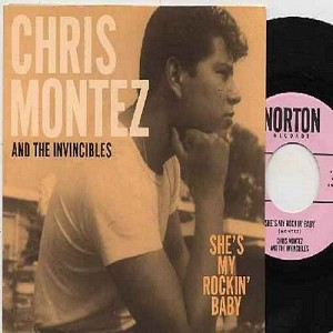 Montez, Chris & The Invincibles - She's My Rockin' Baby/Forgive Me (re-issue of RAR vintage rcordings, with picture sleeve) - M10/NM9 - 45 rpm Records