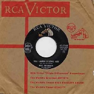 Peterson, Ray - Tell Laura I Love Her/Wedding Day (with RCA company sleeve) - NM9/ - 45 rpm Records