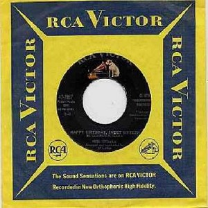 Sedaka, Neil - Happy Birthday Sweet Sixteen/Don't Lead Me On (with RCA company sleeve) - EX8/ - 45 rpm Records