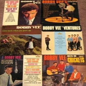 Vee, Bobby - Bobby Vee Vintage LP 6-Pack: First issue vinyl LP records in very good or better condition. Titles include: Bobby Vee Meets The Crickets, Take Good Care Of My Baby, A Bobby Vee Recording Session, Bobby Vee Meets The Ventures, Golden Greats an