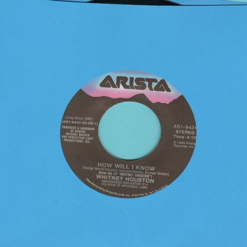 Houston, Whitney - How Will I Know/Someone For Me - EX8/ - 45 rpm Records