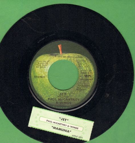 McCartney, Paul & The Wings - Jet/Mamunia (with juke box label) - NM9/ - 45 rpm Records