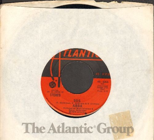 ABBA - SOS/Man In The Middle (with Atlantic company sleeve) - EX8/ - 45 rpm Records