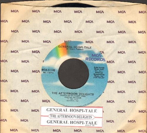 Afternoon Delights - General Hospi-Tale (Novelty Record accounting plot lines of 1980/81 General Hospital Soap Opera, with MCA company sleeve and juke box label!) - EX8/ - 45 rpm Records