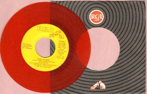 Alabama - Old Flame (RED VINYL double-A-sided  DJ advance pressing with RCA company sleeve) - EX8/ - 45 rpm Records