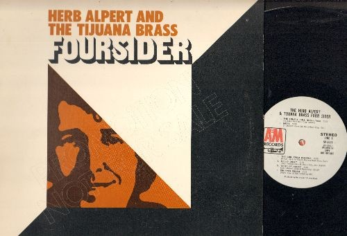 Alpert, Herb & The Tijuana Brass - Foursider: Casino Royale, Mame, Cabaret, Moon River, This Guy'd In Love With You (2 vinyl STEREO LP records in gate-fold cover, DJ advance pressing) - NM9/NM9 - LP Records