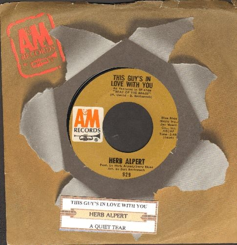 Alpert, Herb - This Guy's In Love With You/Quiet Tear (with juke box label and company sleeve) - NM9/ - 45 rpm Records