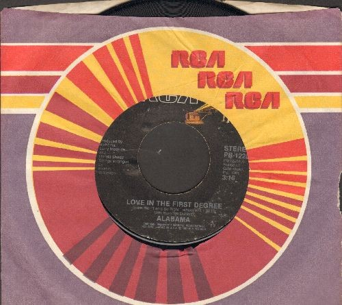 Alabama - Ride The Train/Love In The First Degree (with RCA company sleeve) - EX8/ - 45 rpm Records