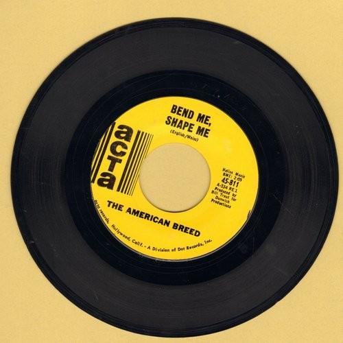American Breed - Bend Me, Shape Me/Mindrocker  - VG7/ - 45 rpm Records
