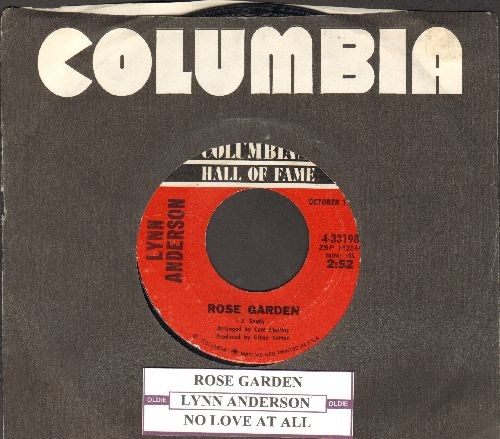 Anderson, Lynn - Rose Garden/You're My Man (re-issue with Columbia company sleeve and juke box labels) - EX8/ - 45 rpm Records