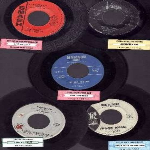 Tassels, Annette, Bob B Soxx & The Blue Jeans, Regents, Angels - Girl-Sound 5-pack of RARE first issue 45rpm records, each with juke box label. All records are in very good or better condition. Hit titles include: My Boyfriend's Back, Pineapple Princess,