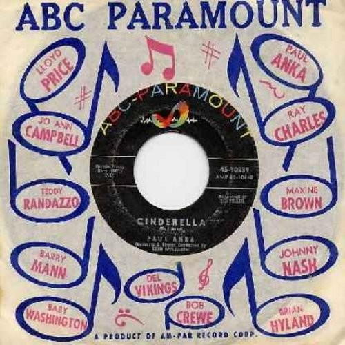 Anka, Paul - Cinderella/Kissin' On The Phone (with ABC Paramount company sleeve) - VG7/ - 45 rpm Records