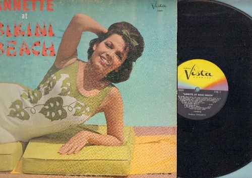 Annette - Annette At Bikini Beach: Monkey's Uncle, Jamaica Ska, Wah Watusi, How About That, Because You're You (vinyl MONO LP record, gate-fold cover) - VG7/VG7 - LP Records