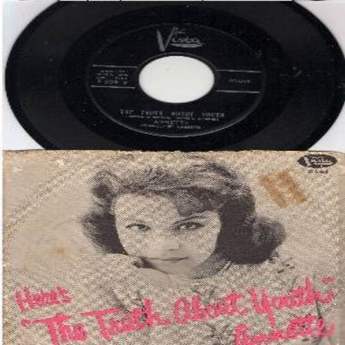 Annette - The Truth About Youth/I Can't Do The Sum (with RARE picture sleeve) - NM9/VG6 - 45 rpm Records