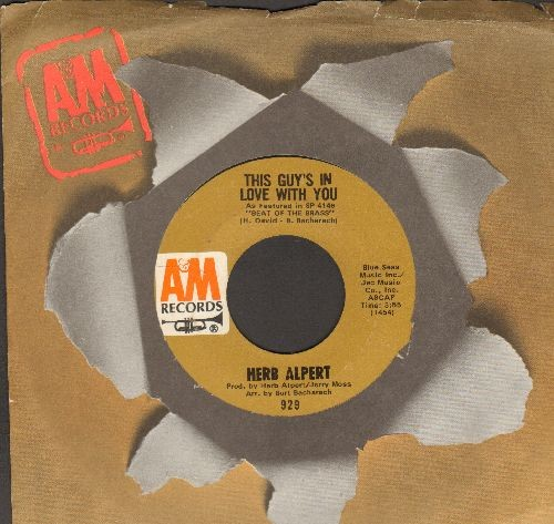 Alpert, Herb - This Guy's In Love With You/Quiet Tear (with compant sleeve) - EX8/ - 45 rpm Records