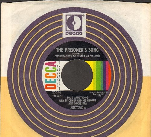 Armstrong, Louis - The Prisoner's Song/I'll String Along With You (with Decca company sleeve) - NM9/ - 45 rpm Records