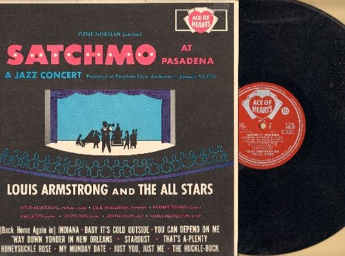 Armstrong, Louis & The All Stars - Satchmo At Pasadena: Baby It's Cold Outside, The Huckle-Buck, Honeysuckle Rose, Stardust (vinyl LP record, British Pressing) - NM9/EX8 - LP Records
