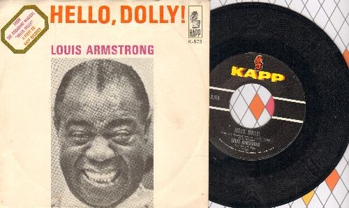 Armstrong, Louis - Hello, Dolly!/A Lot Of Livin' To Do (with picture sleeve) - NM9/EX8 - 45 rpm Records