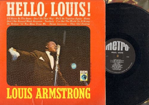 Armstrong, Louis - Hello, Louis!: Sweet Lorraine, Stormy Weather, Don't Get Around Much Anymore, Do Nothin' Till You Hear From Me (vinyl MONO LP record) - NM9/EX8 - LP Records