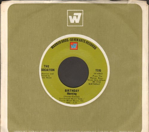 Association - Birthday Morning/Time For Livin' (with vintage Warner Brothers company sleeve) - NM9/ - 45 rpm Records