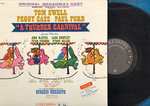 Original Broadway Cast - A Thurber Carnival - Original Broadway Cast recording starring Tom Ewell, Peggy Cass, Paul Ford (vinyl MONO LP record, 1960 first pressing, gate-fold cover with fold-out portfolio!) - NM9/NM9 - LP Records