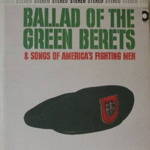 Dewey, Roger - Ballad Of The Green Berets & Songs Of America's Fighting Men: When Johnny Comes Marching Home, Fight No More, Over In Vietnam (Vinyl STEREO LP record) - EX8/NM9 - LP Records
