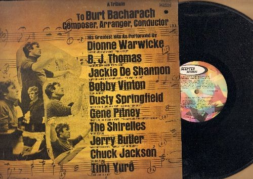 Warwicke, Dionne, Shirelles, Jerry Butler, Gene Pitney, others - A Tribute To Burt Bacharach: Anyone Who Had A Heart, Any Day Now, Baby It's You, The Man Who Shot Liberty Valance (vinyl STEREO LP record) - NM9/EX8 - LP Records