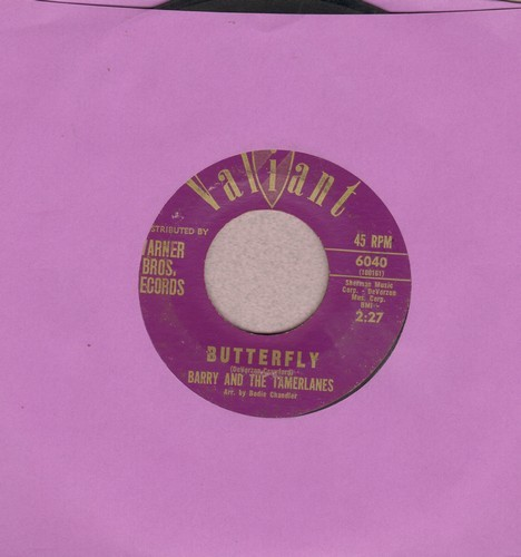 Barry & The Tamberlanes - Butterfly/Roberta - NM9/ - 45 rpm Records