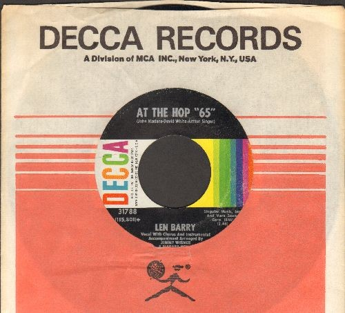 "Barry, Len - At The Hop ""65""/Lip Sunc (with vintage Decca sleeve) - EX8/ - 45 rpm Records"