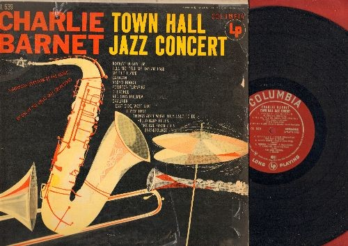 Barnett, Charlie - Town Hall Jazz Concert: Rockin' In Rhythm, My Old Flame, Redskin Rhumba, Caravan (Vinyl MONO LP record, 1955 first pressig) - VG7/VG7 - LP Records