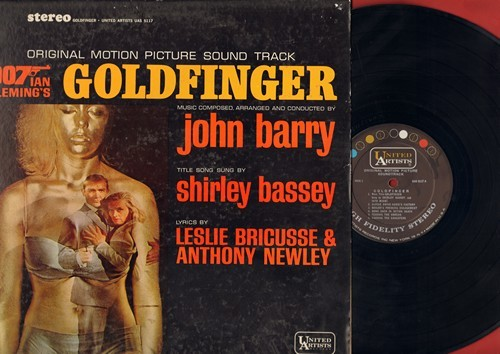 Barry, John, Shirley Bassey - Goldfinger - Original Motion Picture Sound Track featuring title song by Shirley Bassey (Vinyl STEREO LP record) - VG7/VG7 - LP Records