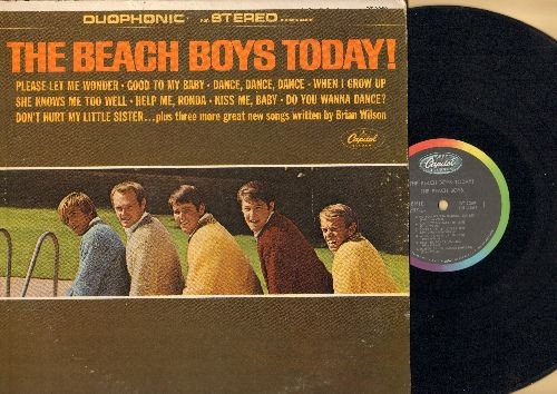 Beach Boys - The Beach Boys Today!: When I Grow Up, Help Me Rhonda, Do You Wanna Dance? (Vinyl STEREO LP record) - EX8/VG7 - LP Records