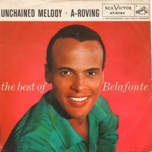 Belafonte, Harry - Unchained Melody/A-Roving - NM9/VG7 - 45 rpm Records