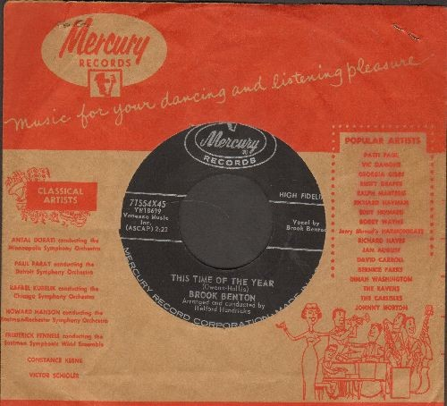 Benton, Brook - This Time Of The Year/Nothing In The Word (with vintage Mercury company sleeve) - NM9/ - 45 rpm Records