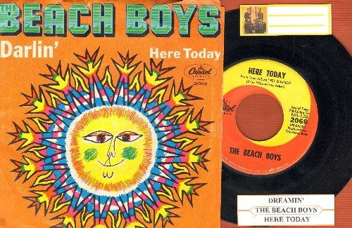 Beach Boys - Here Today/Darlin' (with juke box label and picture sleeve) - NM9/EX8 - 45 rpm Records