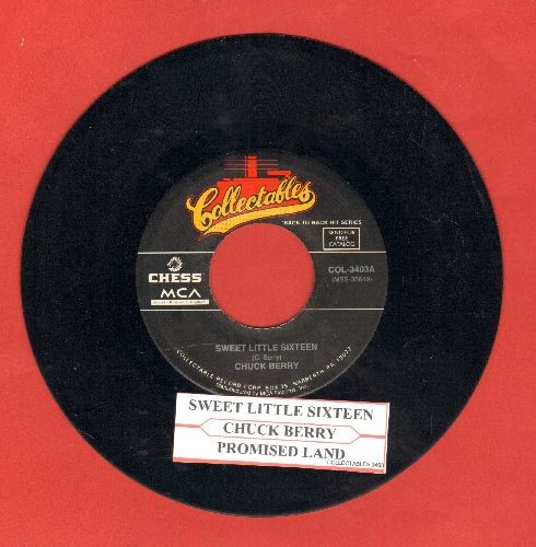 Berry, Chuck - Sweet Little Sixteen/Promised Land (double-hit re-issue with juke box label)  - NM9/ - 45 rpm Records