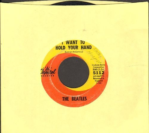 Beatles - I Want To Hold Your Hand/I Saw Her Standing There (first pressing) - VG6/ - 45 rpm Records