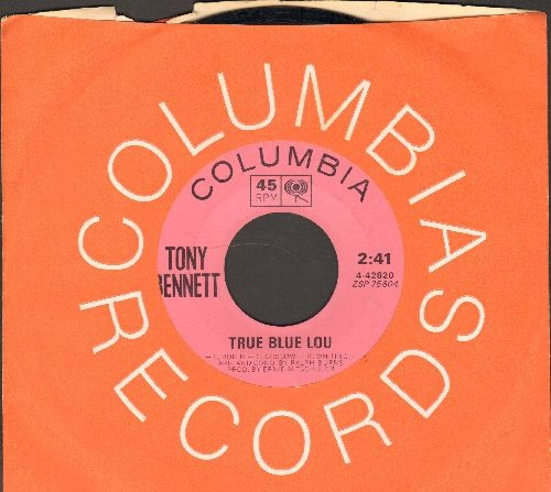 Bennett, Tony - True Blue Lou/This Is All I Ask (pink label with Columbia company sleeve) - NM9/ - 45 rpm Records