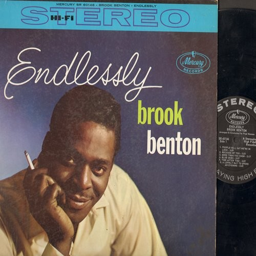 Benton, Brook - Endlessly: People Will Say We're In Love, Blue Skies, Time After Time, You'll Never Know, It's No Sin (Vinyl STEREO LP record) - EX8/VG7 - LP Records