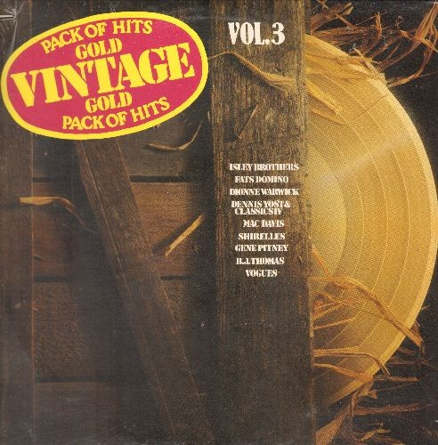 Isley Brothers, Fats Domino, Shirelles, Vogues, others - Vintage Gold Vol. 3: Blueberry Hill, Twist And Shout, Soldier Boy, Five O'Clock World, Stormy (Vinyl LP record, re-issue of vintage recordings, SEALED, never opened!)(small cut upper left cover) - S