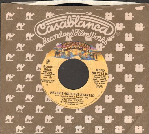 Black Rose - Never Should've Started (double-A-sided DJ advance pressing with Casablanca company sleeve) - NM9/ - 45 rpm Records