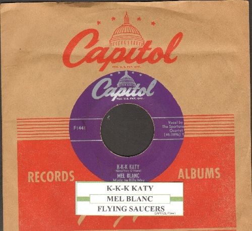 Blanc, Mel - K-K-K Katy/Flying Saucers (with juke box label and Capitol company sleeve) - EX8/ - 45 rpm Records