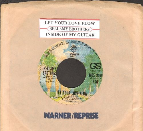 Bellamy Brothers - Let Your Love Flow/Inside My Guitar (with juke box label and company sleeve) - NM9/ - 45 rpm Records