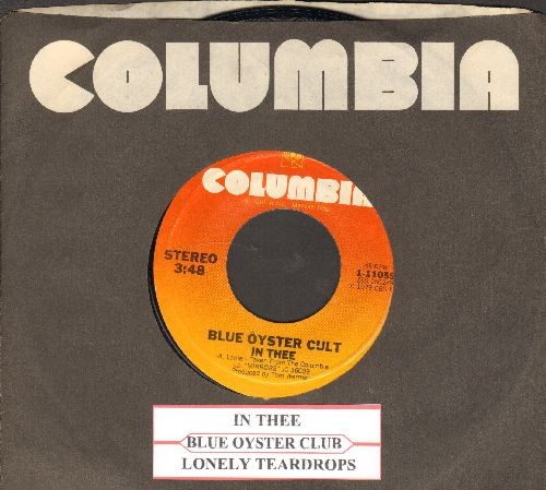 Blue Oyster Cult - In Thee/Lonely Teardrops (with juke box label and Columbia company sleeve) - NM9/ - 45 rpm Records