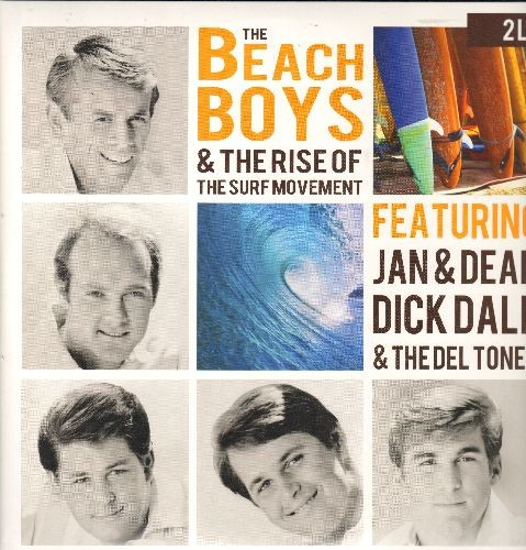 Beach Boys, Jan & Dean, Ventures, others - The Beach Boys & The Rise Of The Surf Movement - Featuring Jan & Dean, Dick Dale & The Deltones, others (2 vinyl LP record set, gate-fold cover, 2015 UK Virgin Vinyl Pressing) - NM9/NM9 - LP Records