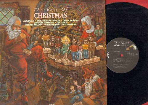 Alabama, Dolly Parton, Elvis Presley, Willie Nelson, others - The Best Of Christmas: Christmas In Dixie, Pretty Paper, Silver Bells, Hard Candy Christmas (vinyl STEREO LP record) - EX8/EX8 - LP Records