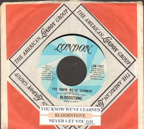 Bloodstone - You Know We've Learned/Never Let You Go (with juke box label and company sleeve) - NM9/ - 45 rpm Records